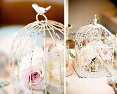 bird cage shower decor, I have a white bird cage