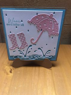 Hobbies In Retirement Kids Cards, Baby Cards, Umbrella Cards, Poppy Craft, Diy And Crafts, Paper Crafts, Punch Art Cards, Marianne Design, Get Well Cards