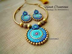 Image may contain: jewelry Terracotta Jewellery Making, Terracotta Jewellery Designs, Terracotta Earrings, Polymer Clay Necklace, Polymer Clay Pendant, Teracotta Jewellery, Biscuit, Beaded Necklace Patterns, Mandala