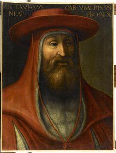 Portrait du cardinal Ottavio Ubaldini.  Ottaviano degli Ubaldini, chiamato anche Attaviano (Firenze, 1214 – 1273), è stato un cardinale italiano. Ai suoi tempi veniva chiamato anche semplicemente Il Cardinale.  From FLORENCE.