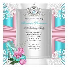 Princess Tiara Party Invitation #princess #tiaras