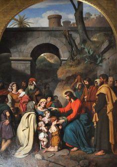 Eglise Saint-Roch à Paris - «Christ et les enfants» de Victor Schnetz (1830)