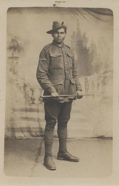 """WWI: Charles Blackman, an Aboriginal Australian soldier - """"Once recruited into… History Of India, Women In History, World History, Ancient History, Native American History, American Civil War, British History, World War One, First World"""