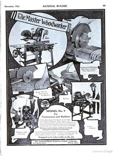 "Can't help but smile at this ""Photo Collage"" Woodworking Ad from 1922."