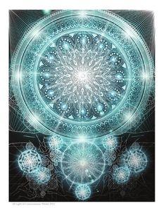 Joma Sipe Arte Simbolista e Visionária l Symbolist and Visionary Art Art Fractal, Fractal Images, Fractal Design, Mandala Art, Geometry Art, Sacred Geometry, Psychedelic Art, Mandala Anti Stress, Art Visionnaire