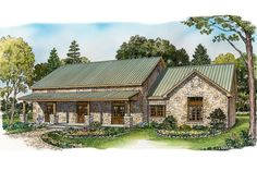 House Plan 140-153 2136 square feet. More house than I want, but I love the exterior (could use some more/larger windows).