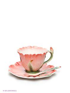 Чайная пара ''Гентиана'', Pavone на Маркете VSE42.RU Tea Cups, Tableware, Dinnerware, Tablewares, Dishes, Place Settings, Cup Of Tea