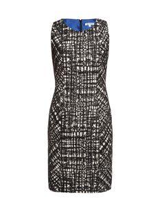 Paule Ka Printed Stretch Wool Jacquard Dress