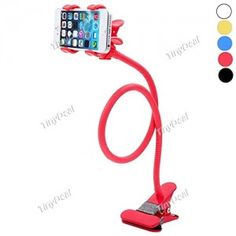 Universal-Rotating-Lazy-Bracket-Flexible-Mount-Holder-with-Dual-Clip-for-Mobile-Phone-Color-May-Vary-0