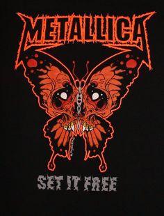 Metallica Pushead anger set it free Metallica Tattoo, Metallica Art, Metallica Shirts, Rock Band Posters, Vintage Music Posters, Metal Artwork, Band Logos, Thrash Metal, Art Music