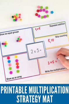 Printable Multiplication Strategy Mat | Childhood101