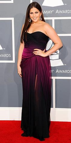 Hillary Scott, Grammy Awards 2012, Monique Lhuillier. Curves.