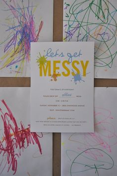 """Let's Get Messy"" theme part - dress code: smart casual,wipe down!"