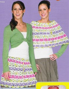 "Crochet ""Teen"" Skirt / Poncho - Pattern Downloaded"
