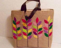 Resultado de imagen de bolso de arpillera dawanda