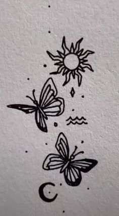 Cute Tiny Tattoos, Dope Tattoos, Little Tattoos, Pretty Tattoos, Small Tattoos, Mini Tattoos, Tatoos, Mini Drawings, Cool Art Drawings