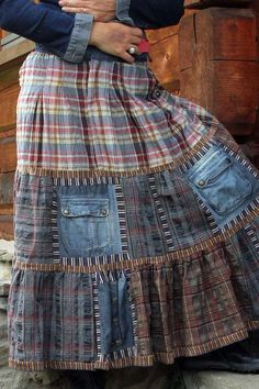 fantasy patchwork skirt by jamfashion on Etsy, $58.00 - seriously? - easy to make for so much less - just scraps: