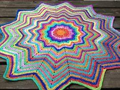 Ravelry: jlmattson's Rainbow star baby blanket