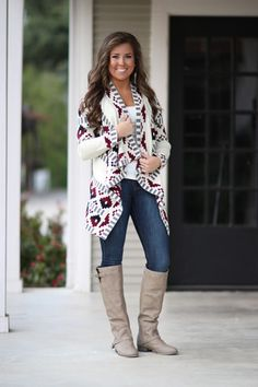At the Top of the Ladder Cardigan - Ivory