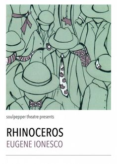 direction | poster for the play Rhinoceros by Eugene Ionesco #illustrations #madisongeri