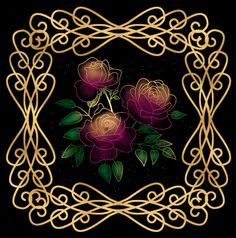 Beautiful Glitter Graphic Woman | Glitter Graphics » Flowers and trees » Beautiful Glass Roses In Gold ...