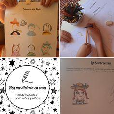 """Encuentra esta actividad """"Peinado y Sombreros"""" en mi cuadernillo de actividades para niños. PDF IMPRIMIBLE. Descargalo Ya! Instagram, World, School Community, Recipes, Free Downloads, Printable, Activities For Kids, Sombreros, Hilarious"""