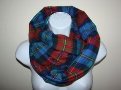 red blue gold plaid infinity scarf Flannel by OtiliaBoutique Blue Gold, Red And Blue, Plaid Infinity Scarf, Flannel, Trending Outfits, Unique, Clothes, Vintage, Etsy