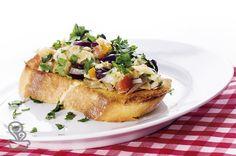 bruschetta de bacalhau