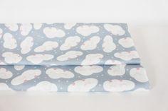 """Kinderstoffe - Baumwollstoff """"Wolken"""" (Halbpanama) - ein Designerstück von avaundyves bei DaWanda"""