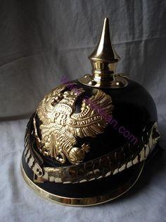 Prussian Pickelhaube Spike WW1 German Leather Helmet | eBay