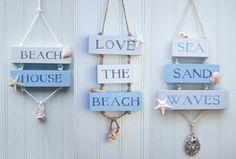 Coastal Beach House Decor Signs
