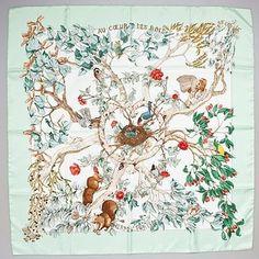 My Hermes silk scarf: Au Coeur Des Bois