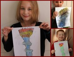 A Simple Start in Chalk Pastels: Winter Olympics - Review by Tristan - Our Busy Homeschool