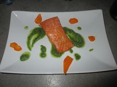 FORNELLI IN FIAMME: SALMON WITH ROCKET PESTO - Salmone con pesto di ru...