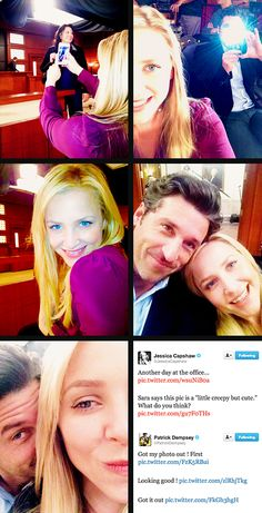 So Adorable. Patrick Dempsey and Jessica Capshaw