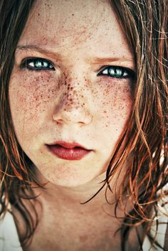 freckles like stars.  by ~Pretty-As-A-Picture