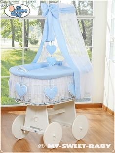 My Sweet Baby Drape Heart Wicker Crib Moses Basket White for sale online Cot Canopy, Best Changing Table, White Canopy, Baby Bedding Sets, Moses Basket, White Wicker, Baby Bedroom, Baby Cribs, Bassinet