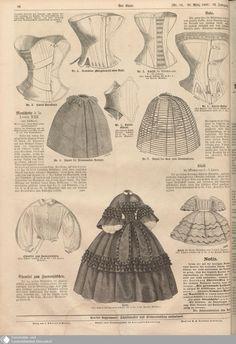1860 Der Bazar. Alternative corsets, and hoops. [jrb]