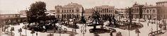 Panorámica de la Plaza Victoria  (fines del siglo XIX)          ---               Valparaíso Old Panoramics
