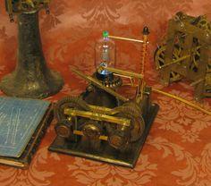 Steampunk Lamp Steam Punk Light Tesla Gear Desk Lamp Vintage Antique Victorian   eBay