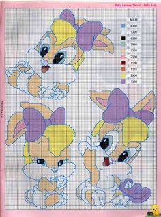 cross stitch pattern with color key