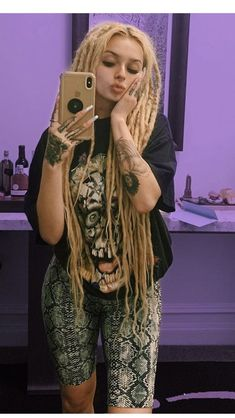 Dreadlock Hairstyles, Baddie Hairstyles, Thick Dreads, Bird Tattoo Men, Casual Makeup, Dreads Girl, Black Panther Marvel, Woman Crush, Girl Power