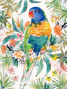 KEETH the Rainbow Lorikeet – BARBARIAN by Barbra Ignatiev | Bold colorful art