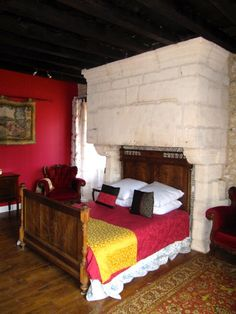 One of our suites, the chimney is reportedly over 400 years old!