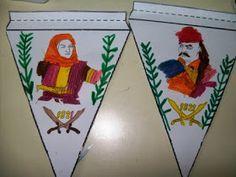 """Διαβάσαμε την ιστορία """" Ο Πέτρος και η επανάσταση του 1821"""" Μαθαίνουμε τους ήρωες της επανάστασης Βρίσκουμε στο χ... 28th October, 25 March, Ronald Mcdonald, Fictional Characters, Greek, School, Spring, Fantasy Characters, Greece"""