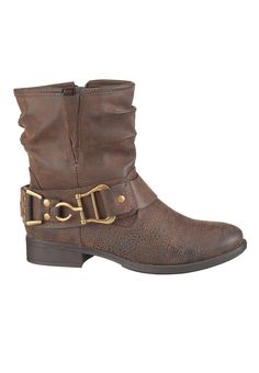 Brown Sable slouch bootie with buckle #maurices #spon
