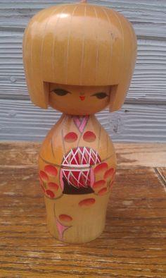 Vintage Japanese KoKeshi Doll  Wooden Doll