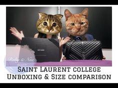 Ysl college bag medium vs  large size comparison Ysl College Bag Medium, College Bags, Hermes Halzan, Ysl Saint Laurent, Ysl Bag, Medium Bags, Saints, My Style, Clothes