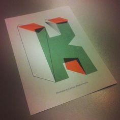 Type postcard illustration by me