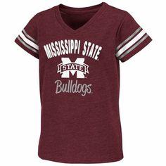 Mississippi+State+Clothing+Shirt | Mississippi State Bulldogs Youth Girls Locker V-Neck T-Shirt - Maroon